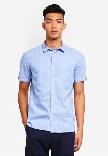 ESPRIT blue Woven Short Sleeve Shirt 05920AA79A0423GS_1