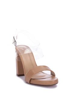 f84cb54bd501 Janylin One Band Chunky Heel Sandals Php 1