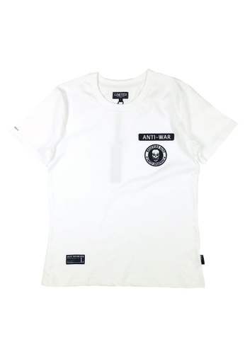 L.I.M.I.T.E white Regular fit Emb. Patch T-Shirt LI425AA0FCK4SG_1