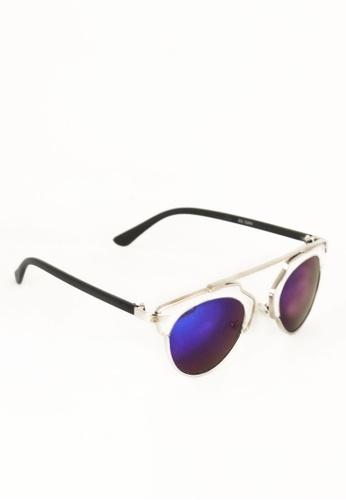 Amora Scarlett blue Kai See-through Sunglasses in Blue Lens - Silver Frame by Amora Scarlett AM058AC0SY1RMY_1