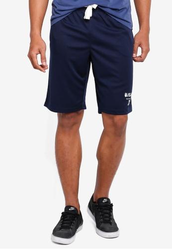 OVS 海軍藍色 抽繩 短褲 BF0C3AA0C82C1EGS_1