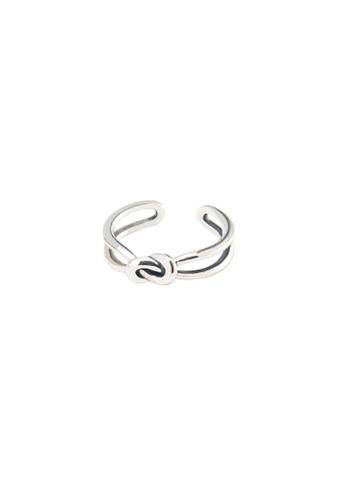 OrBeing white Premium S925 Sliver Geometric Ring 4664DAC909B18DGS_1