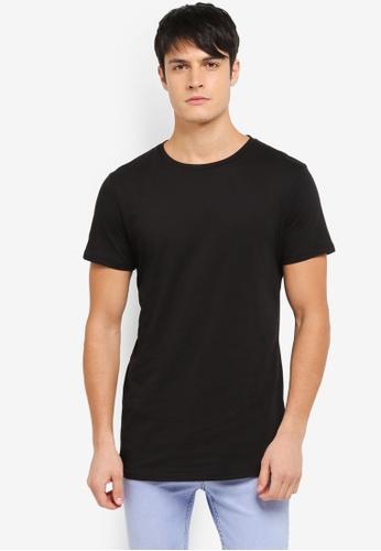 Cotton On black Essential Longline Tee CO372AA0SS9RMY_1