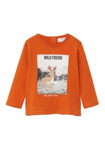 MANGO BABY orange Mango Baby T-Shirt 11D67KAA77805EGS_1