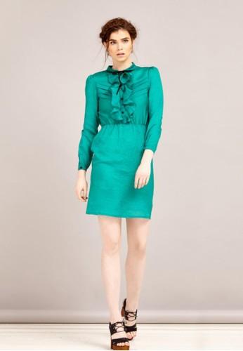 府綢領結洋裝esprit au, 服飾, 短洋裝