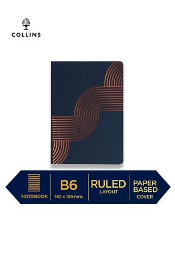 Collins blue Collins Vanguard  ─  NotebookB6 Ruled Blue Curved CE5F8HLFA3BCF8GS_1