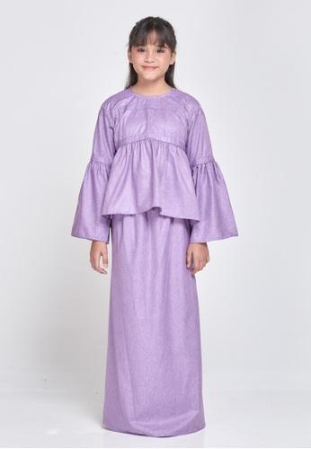 MOTHER & CHILD purple Anna Kurung Peplum Kids 9361FKAB945A55GS_1