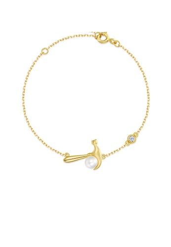 SUNSET gold Premium 925 Sliver Pearl Bracelet 91C49ACBABEE9DGS_1