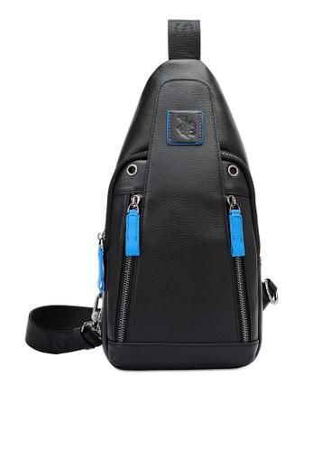 Swiss Polo black Contrast Pull Tab Chest Bag 2766BACC6B18F1GS_1