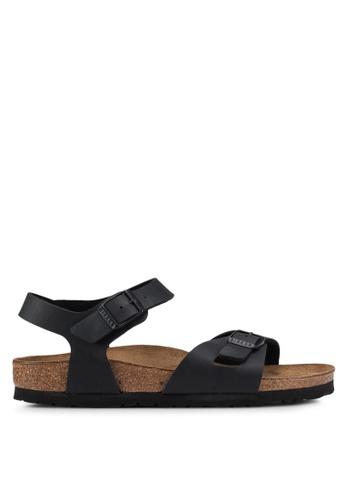 410f133b0a62 Birkenstock black Rio Birko-Flor Sandals D4FD8SHEA5CFC1GS 1