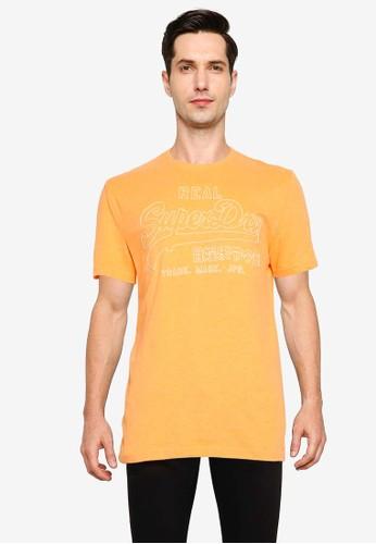 Superdry orange Vintage Label Outline Pop Tee 31389AAECA951FGS_1