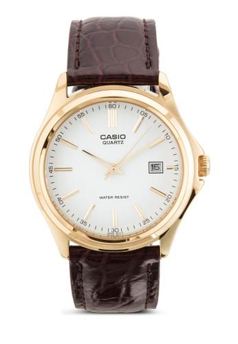 簡約皮革圓錶, 錶類, 飾品esprit香港門市配件