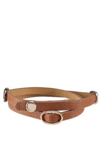 三層扣環仿皮手環, 飾品配zalora 包包評價件, 其他