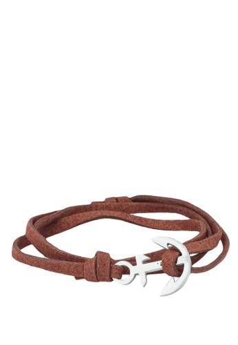 Thread Etiquette brown Chestnut Anchor Bracelet 5AB69AC150BC66GS_1