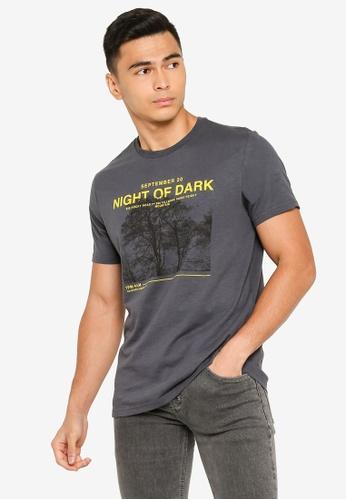 OVS grey Night Of Dark T-Shirt 499F0AA69CCD43GS_1