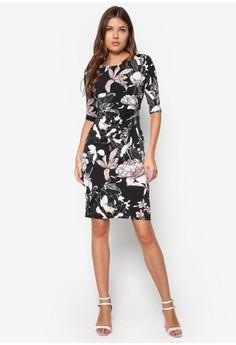 Floral Side Zip Shift Dress