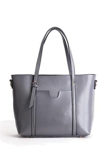 Twenty Eight Shoes grey VANSA Nappa Leather Tote Bag VBW-Tb172 530BBAC66E7138GS_1
