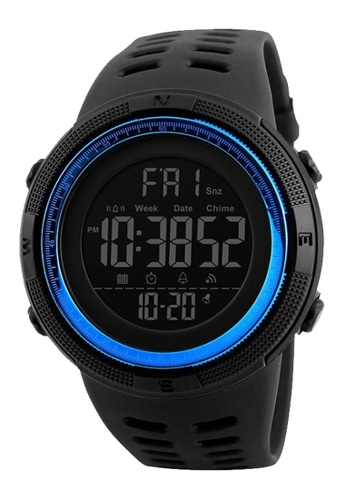 Skmei black and blue SKMEI 1251 Men Sports Watch Countdown Double Time Alarm LED Digital Watch (Blue) SK707AC0S97PMY_1