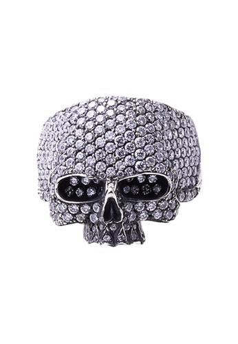 The LoveMark silver ReCreate Skull Ring Clear CZ TH516AC56PPBPH_1