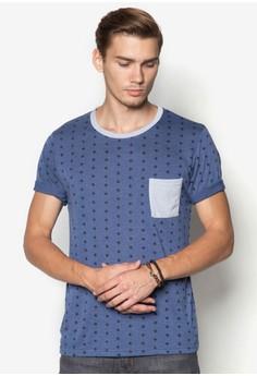 【ZALORA】 Aztec Micro Print T-Shirt Twin Pack