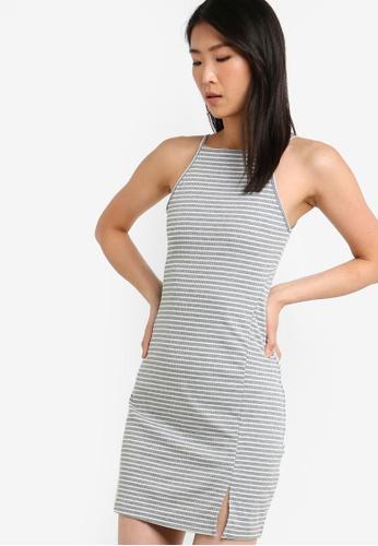 ZALORA BASICS multi Basic Halter Bodycon Dress 7721FAA454813DGS_1
