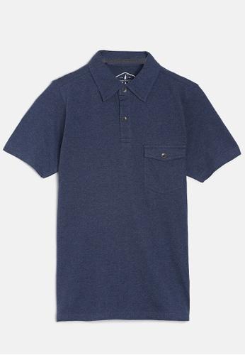 ZALZA blue Mike 100% Organic Cotton Boys Polo Tee - Lake Blue 83B9CKA0FA442EGS_1