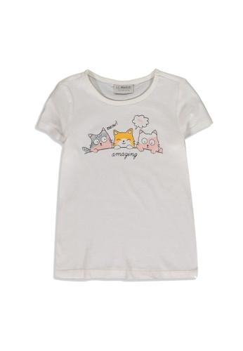 LC Waikiki white Girl Printed Cotton T-Shirt 93464KA172AF89GS_1