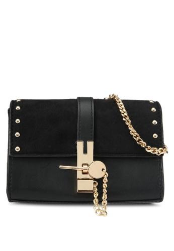 TOPSHOP black Rhonda Keylock Crossbody TO412AC0SIX5MY_1