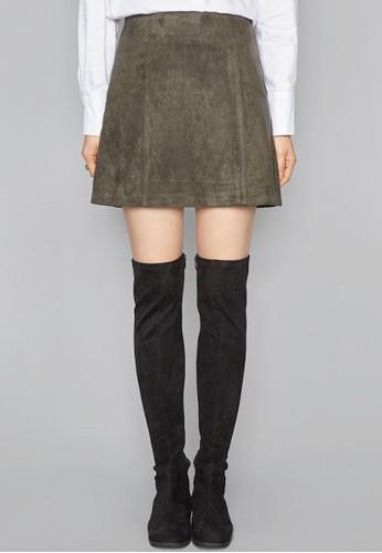 仿麂皮絨esprit mongkokA字短裙, 服飾, 迷你裙