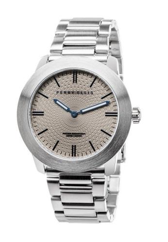 PERRY ELLIS silver Perry Ellis Slim Line Unisex 42mm Quartz Stainless Steel Watch 07003-02 D5E80ACE84FE64GS_1