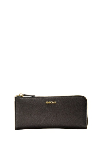 SEMBONIA black SEMBONIA Genuine Leather Wallet (Black) D4957AC31C7F21GS_1