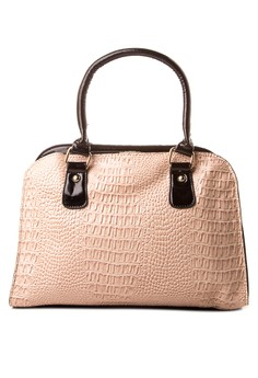 Claudia Croco Shoulder Bag