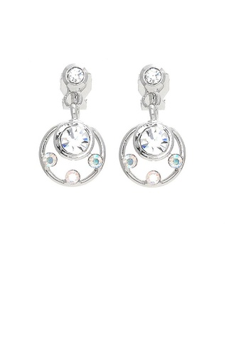Glamorousky silver Elegant Earrings with Silver Austrian Element Crystals D13C5AC5CB7B3CGS_1