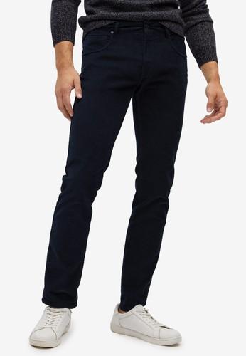 MANGO Man blue Slim Fit Denim-Effect Corduroy Trousers 3BB20AA3335CB3GS_1