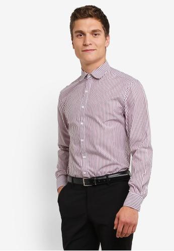 MANGO Man red Slim-Fit Striped Cotton Shirt MA449AA0RORLMY_1
