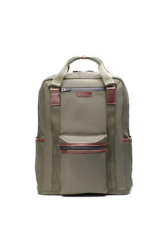 Maverick & Co. green Maverick & Co. Ernest Convertible Nylon Backpack  - Olive 991C0ACF303348GS_1
