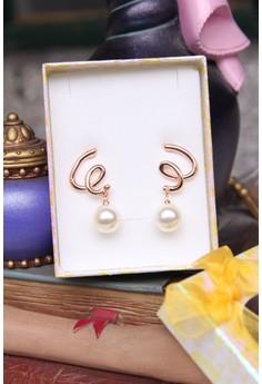 Pearl Spiral Earrings