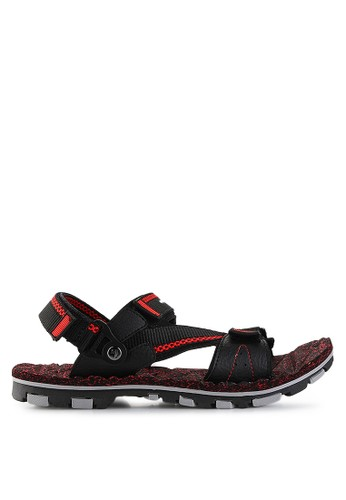 Homyped black Merbabu 02 Men Sandal Gunung HO842SH27PWIID_1
