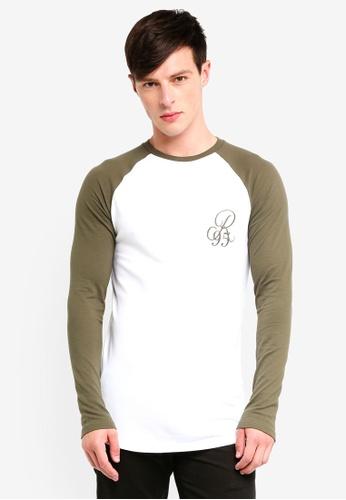 River Island 綠色 撞色T恤 8777CAA81F12F8GS_1
