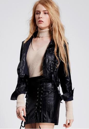Storets black Sarah Strappy Skirt Jacket Set ST450AA0GWPWSG_1