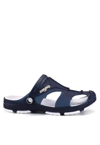 Twenty Eight Shoes navy Waterproof Jelly Rain and Beach Sandals VMR1721 D1529SH1E761B3GS_1