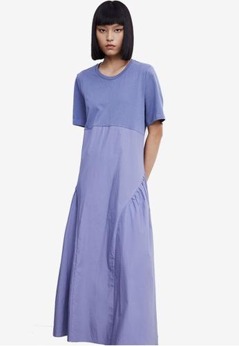 URBAN REVIVO grey Maxi Tee Dress DC6A2AA01F13A6GS_1