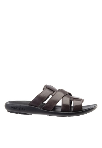 Hush Puppies brown Hush Puppies Men's Pivot Slide - Dark Brown 64904SH31619A4GS_1