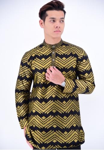 197f63864286f UA BOUTIQUE black Kurta Batik UAKLG04-011 (BLACK  GOLD) 22247AA8F22BBCGS 1