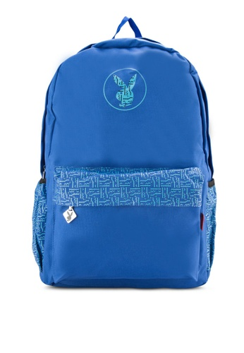 Playboy blue Playboy Backpack PL371AC37DPAMY_1
