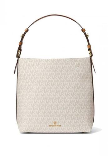 MICHAEL KORS white MICHAEL Michael Kors Lucy Medium Logo Shoulder Bag 22254ACF8BA20FGS_1