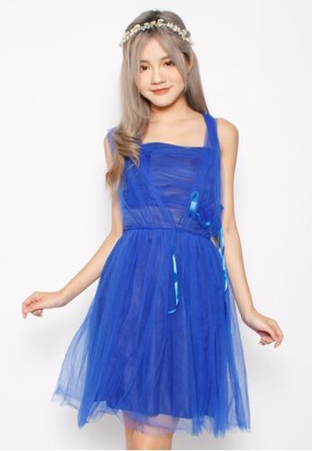 Seoul in Love blue Junn Seo Dress in Royal Blue SE496AA90XJXSG_1