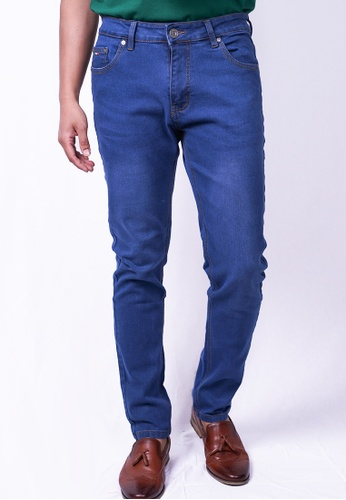 MILANO blue Milano Jeans Long Pants Tight Fit Stretchable 1071DAA7B2DCF9GS_1