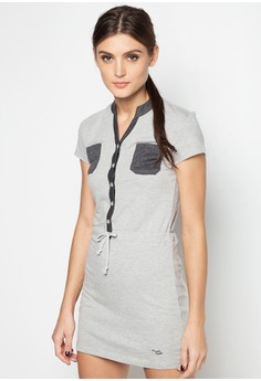 Terry Dress with Pockets