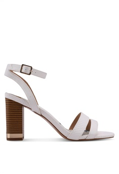River Island white White Block Heel Barely There Sandals 269B1SH0337D50GS_1